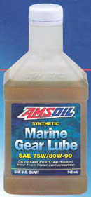 Amsoil AGM is the only marine gear lube to resist up to 10% solution of water in the gearbox.