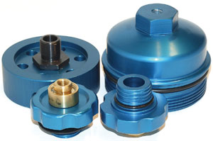 Custom Bypass oil filter parts for GMC Duramax, Dodge 5.9 and Ford 6.0 turbo diesel. Return and feed.