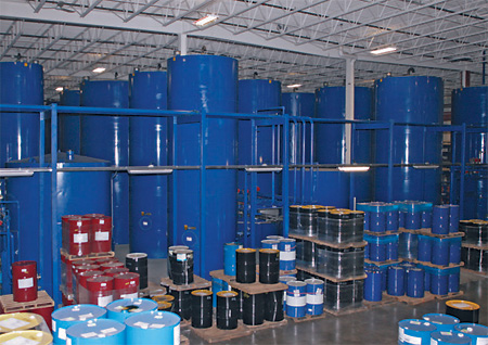 Amsoil's main storage tank area - all under one roof included heated rail yard!
