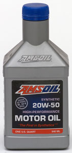 AMSOIL 20W50 gasoline and Diesel - Often overlooked but provides solutions for dozens of applications.