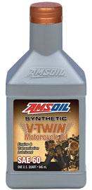 SAE 60 Synthetic V-Twin Motorcycle Oil