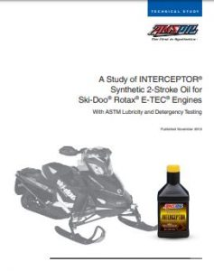 A Study of INTERCEPTOR Synthetic 2-Stroke Oil for Ski-Doo Rotax E-TEC Engines