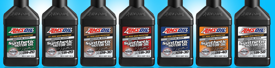 Amsoil signature series motor oils