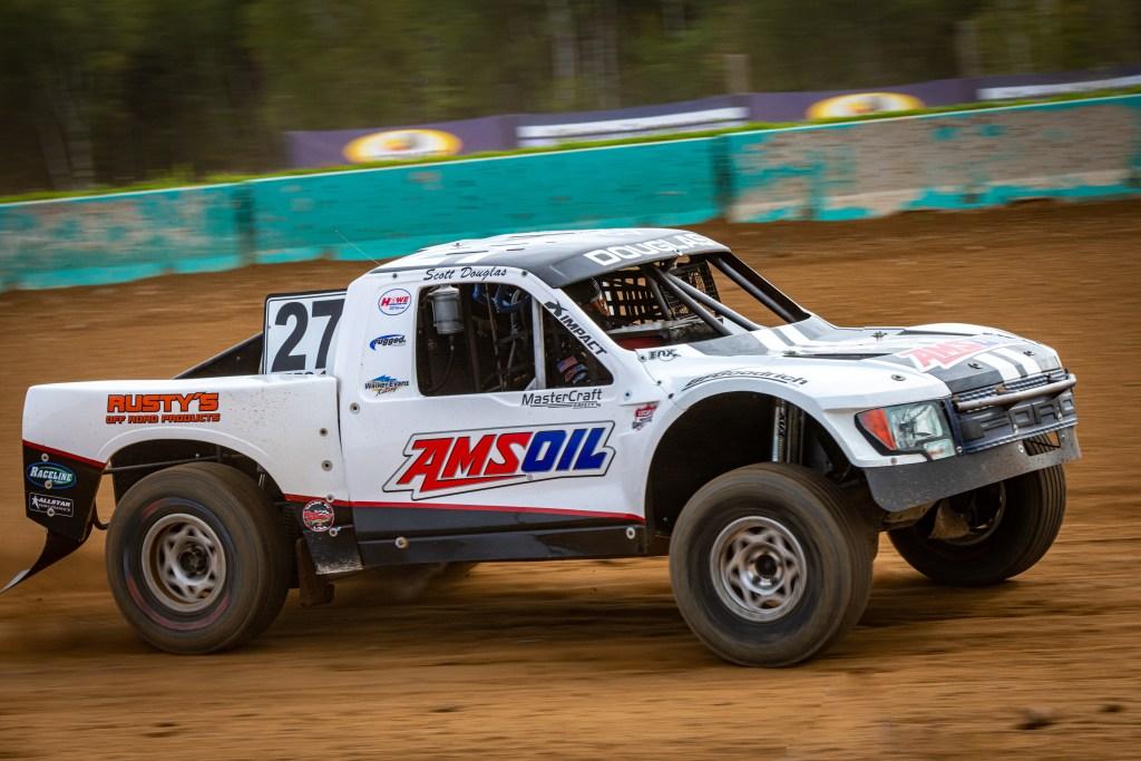 Scott Douglas AMSOIL racing truck