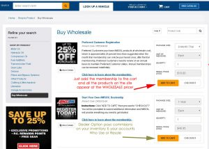 wholesale buying page for Amsoil products